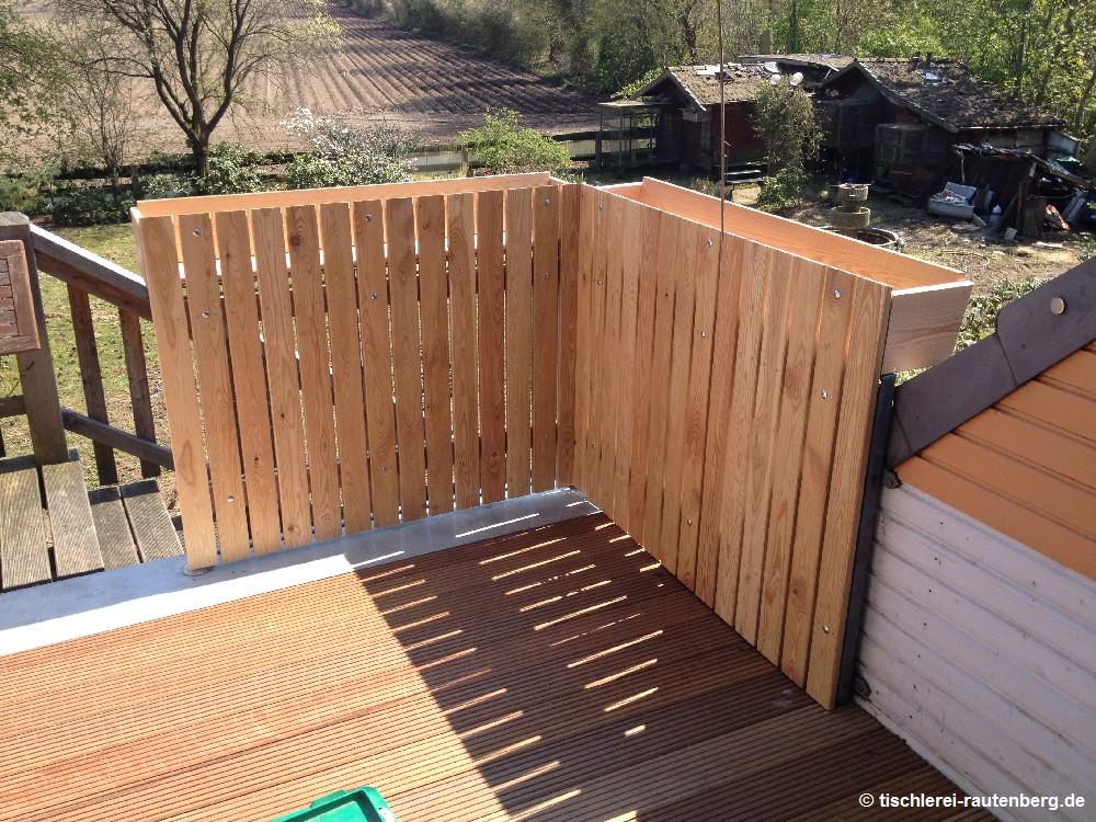 bangkirai sichtschutz sichtschutz terrasse holz selber. Black Bedroom Furniture Sets. Home Design Ideas