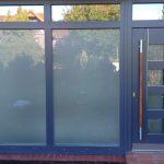 Kunststoff Haustüranlage mit Oberlichtern- Grau